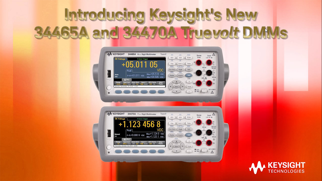 Keysight Technologies Introduces Next Generation 6 7 Digit Electronic Multimeters Click To Download
