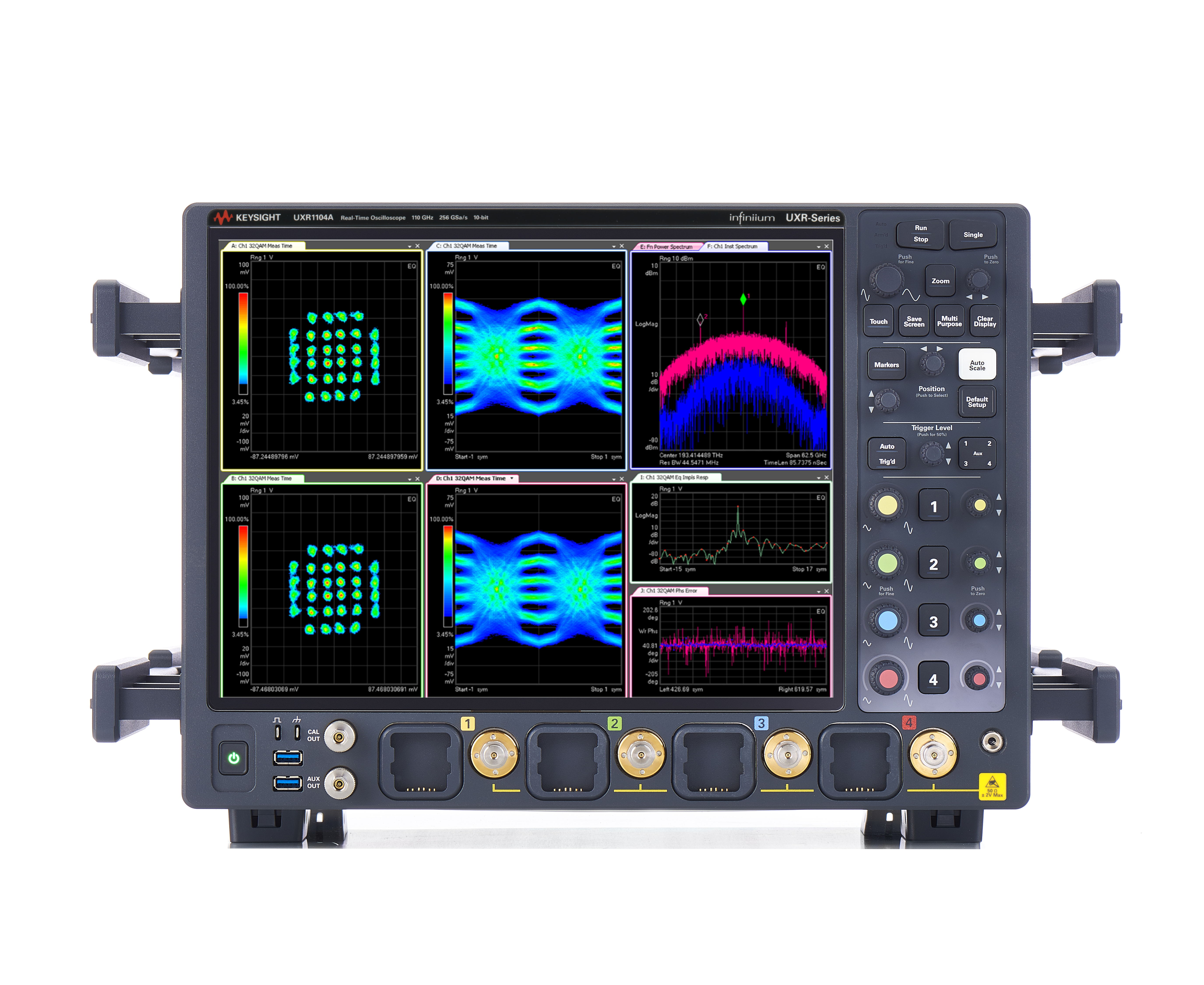 Keysight Infiniium Uxr Series Real Time Oscilloscopes Increase Internet Speed 100 Times Faster Using Photonic Integrated Circuit Uxr1104a Oscilloscope High Bandwidth 32 Qam